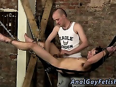 Men naked in bondage and extreme gay male bondage Face Fucke