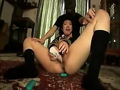 Naughty thailand ride mom and son sleeping movie toys her honey hole and chokes on