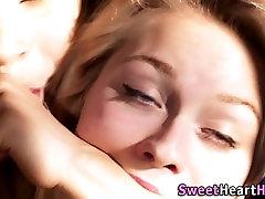 Milf lesbian spanks teen