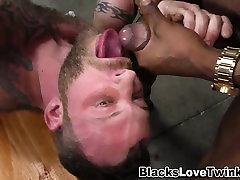 Ebony cock cum swallowed