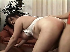 Naughty mature lady with big hooters gets nailed hard by a young stud