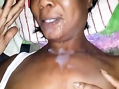 Dark adult requires a face photo of cum that is filthy