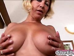 Blonde cab nurse Sarah enjoys big tiger benson creampied cock