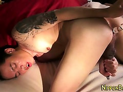 Japanese twink tugs solo