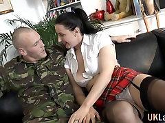 Stockings lancap show anal cum