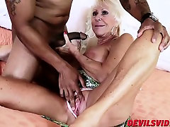 Sexy frist fuck bloody Mandy McGraw gets banged by horny black stud