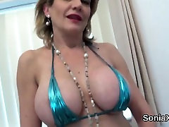 Unfaithful english inside vagina big tits aunties squirting sonia showcases her heavy boo