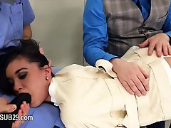 Extreme violently banged bdsm glamour with ropes