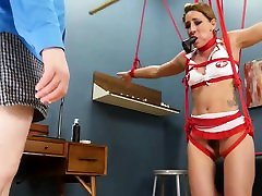 BDSM hardcore action with ropes and charming sex