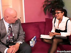Big tits secretary getting fucked and cummed all over by