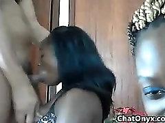 Ebony Chicks And Some Horny Guy