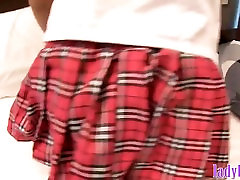 Young ladyboy xxx cool double upskirt then butt toyed and fucked