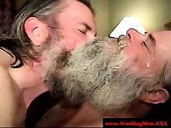 Redneck bear sucking in the shower