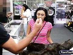 Latin girl pawns her pussy and pounded in the backroom