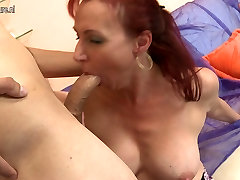 Gorgeous mature pussyman pool party fucks her son&039;s friend