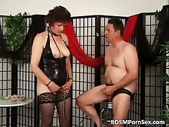 Mature couple playing BDSM games part4
