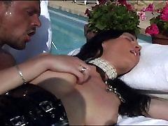 Poolside shaved slave bdsm pussy pounding
