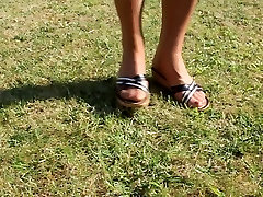 Nylon Stocking Feet Heels