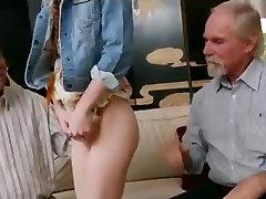 SB3 Skinny Pigtailed Redhead Teen Fucks A Grandad !