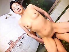 Mature Japanese woman creampied in the bathroom