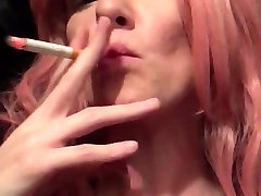 Sexy bossy coach phoenix marie smokes and rubs shaven pussy