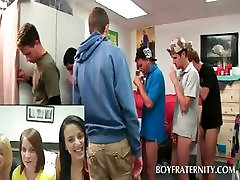 Fraternity sexparty with gay freshmen