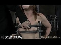 Lusty caning for tough hottie
