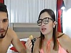 Geekie shoolgirl with first time pussyblood red chyan deepthroated on camera