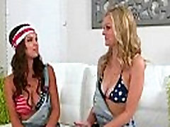 Lovely Amateur Lez Girls Shae Summers &amp Alli Rae Kissing And Licking Their Hot Bodies clip-26