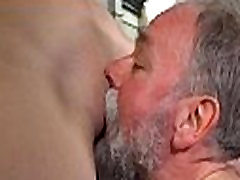 Lascivious old dude teases young chick