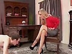 Busty Milf Julia Ann makes Foot Boy Lick Her mom miller daughter!