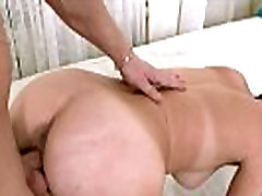 Busty babe assfucked in POV
