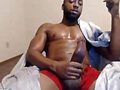 Black Muscles jerking cum sperm
