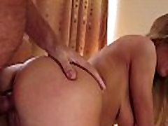 Teen gets tits cumshot