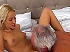 Teen sucks grandads cock