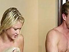 Petite massage beauty gets facialized