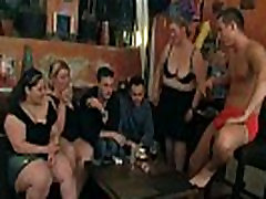 Wild big tits party with striping and sucking