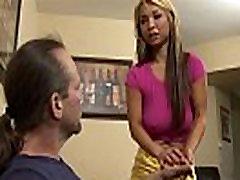 Asian Teen Step Daughter Seduces Dad
