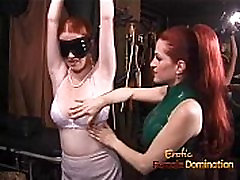 Latex-clad finlands hard wench has her way with a freckled ginger hussy
