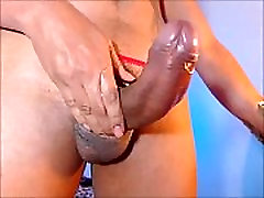 Big Shemale Cumshot after Hours of Edging