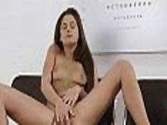 Teen gal in a solo fingering