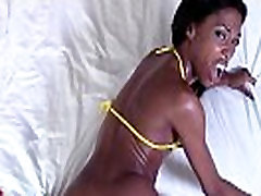 Hot black playgirl is a cute cowgirl