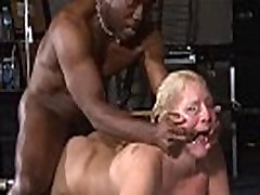 Rough interracial hardcore sex domination of busty Melanie Moon in pussy punishm
