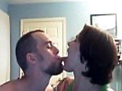 A romantic wife&039s tongue sucked by her boyfriend