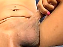 Black amateur femboy queen solo tugging cock