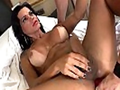 Bigtitted muscle tranny toyed while jerking