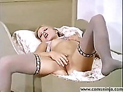 Hot blonde Anna Magle masturbates and cums in vintage porn