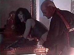 Vintage spanking indian with Venere Bianca in latex dress fucked by two men
