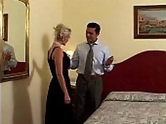 Vintage anal sex pia: Classy hot blonde in sexy lingerie fucked on bed