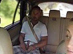 Riebalų moterų netikrą taksi vairuotojas fucks klientų